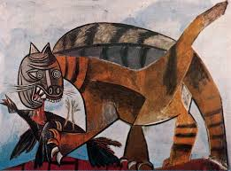 cat eating a bird 1939 pablo picasso