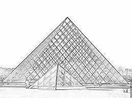 pyramids of the louvre coloring pages printable u0026 free