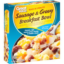 great value sausage u0026 gravy breakfast bowl 7 oz walmart com