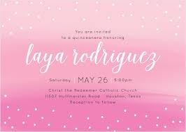 quince invitations quinceañera invitations match your color style free basic
