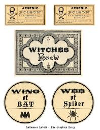 Halloween Stickers Printable by Free Printable Halloween Labels Potions The Graphics Fairy