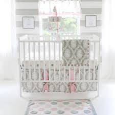 Pink Nursery Bedding Sets by My Baby Sam Olivia Rose 3 Piece Crib Bedding Set Gray Pink