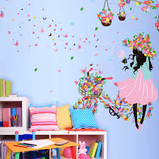 Butterfly Kids Room by Flower Butterfly Bicycle Wall Sticker For Kids Rooms Home