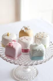 mini wedding cakes 6 bridal shower petit fours cakes photo blue mini cakes