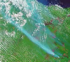 Wildfire Haze Map by Smoke And Fires In Sumatra Natural Hazards