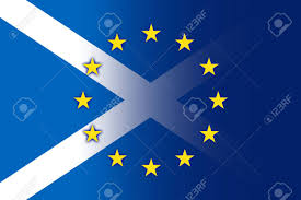 Scotland Flags Scotland And European Union Flag Stock Photo Picture And Royalty