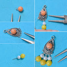 Wire Chandelier Earrings 1 Free Instruction On How To Make Beaded Chandelier Earrings Beads