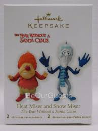hallmark ornament heat miser and snow miser the year without santa