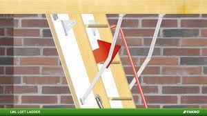 fakro loft ladders lwl wooden loft ladder youtube