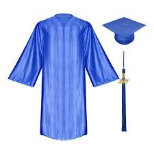 blue cap and gown shiny royal blue elementary cap gown tassel gradshop