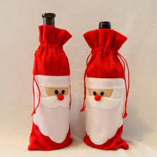 Christmas Wine 10 Pieces Santa Claus Christmas Wine Bottle Cover Bags 22 99