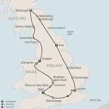 Map Of England And Scotland by England Tours Globus England Vacation Packages
