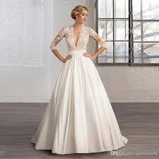 plain wedding dresses discount design plain satin wedding dress 2017 new fashion