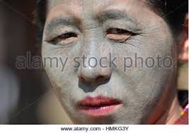 an u pu tribe chin woman with full face tattoos kanpetlet