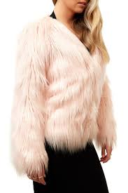 dashboard fiore fiore pink fluffy faux fur coat miss g couture