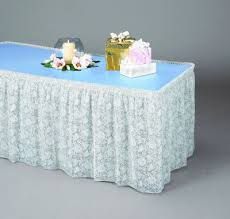 Table Skirts Lace Plastic Table Skirting Wedding U0026 Bridal Shower