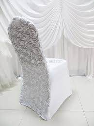 rosette chair covers rental satin rosette back spandex chair cover louise vina