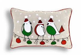 christmas linen pillow cover birds ornaments indian brocade christmas linen pillow cover birds ornaments indian brocade applique embroidered pillow size 14 from the exclusive home decor and home furnishing