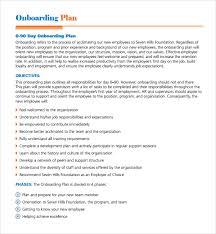 hr development plan template sample onboarding plan template 7 free documents in pdf