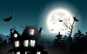 halloween horror nights wallpaper holiday halloween scary house horror creepy full moon castle trees