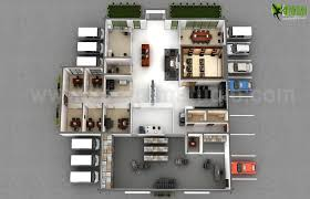 modern office 3d floor plan design 3d floor plan design cg