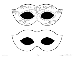 black and white mardi gras masks free printable mardi gras mask template