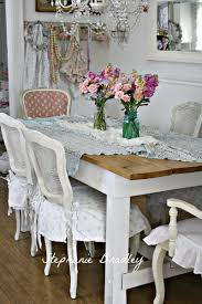 Blue Shabby Chic Kitchen by Such A Lovely Cottage Dinning Area Love The Lace And Blue And