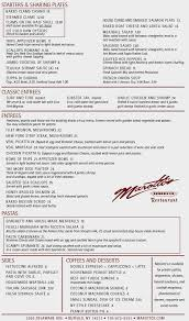 Filet Mignon Menu Dinner Menu At Marotto U0027s Restaurant