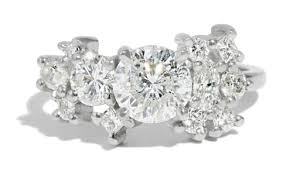 cluster rings custom cluster engagement ring with heirloom diamonds bario neal