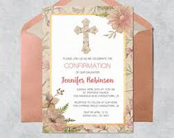 templates for confirmation invitations confirmation invite etsy