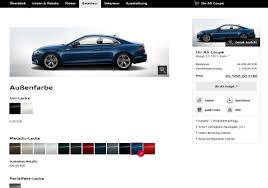 audi r8 configurator 2017 audi a5 coupe configurator available s5 starts at 62 500