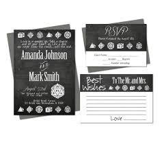 wedding wishes regrets dice wedding invitation set rsvp best wishes card