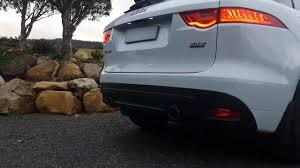 jaguar f pace trunk jaguar f pace 3 0 diesel w quicksilver exhaust system youtube