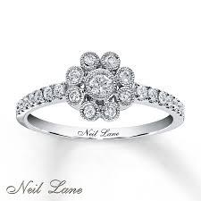 diamond flower rings images Kay neil lane designs ring 1 3 ct tw diamonds 14k white gold jpg