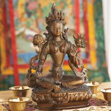 statue with green tara statue with bronze finish dharmacrafts