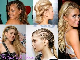 half shaved with braids faux side shaved hairstyle hair color ideas and styles for 2018