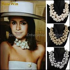 bib necklace aliexpress images Fashion exaggerated gold multilevel chains cross pearls bib choker jpg