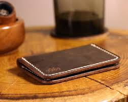 Leather Personalized Business Card Holder Y96o On Etsy