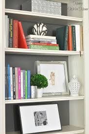 Bookshelf Styling Painted Media Cabinet U0026 Bookshelf Styling Honey We U0027re Home