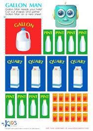 cup pint quart gallon worksheet measurement for free printable worksheets