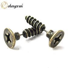 hip earrings chengxun hip hip earring youth men women ear piercing 3d cross