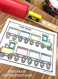 sight word train center simply kinder