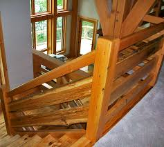 Wooden Stair Banisters Timber Frame Stairs New Energy Works