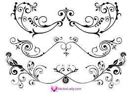 flourish ornaments illustrator 123freevectors
