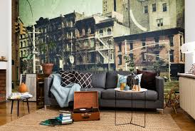 vintage cities city motifs in a new old style photowall