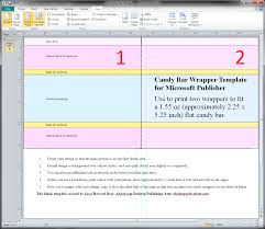 guides and resources for making candy wrappers in microsoft word