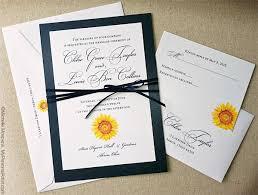 sunflower wedding invitations unique painted sunflower wedding invitations mospens studio