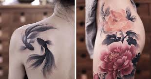 these watercolor tattoos by chen jie will you wish you had one