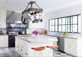 fascinating modern kitchen with white accents color combined