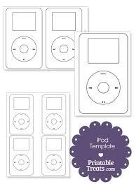 printable ipod outline printabletreats tortas